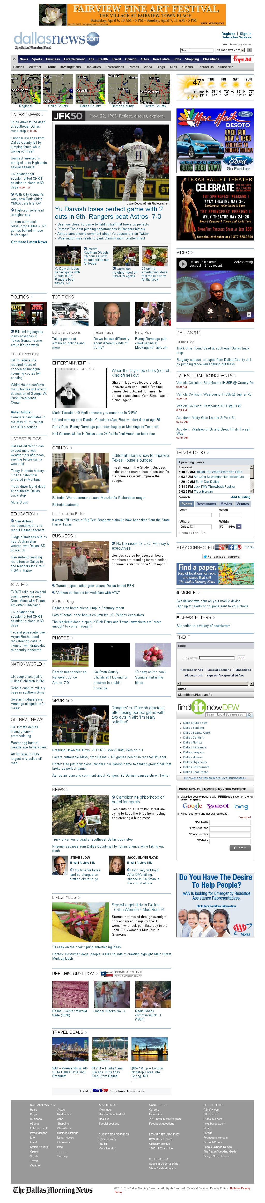 dallasnews.com at Wednesday April 3, 2013, 2:04 p.m. UTC