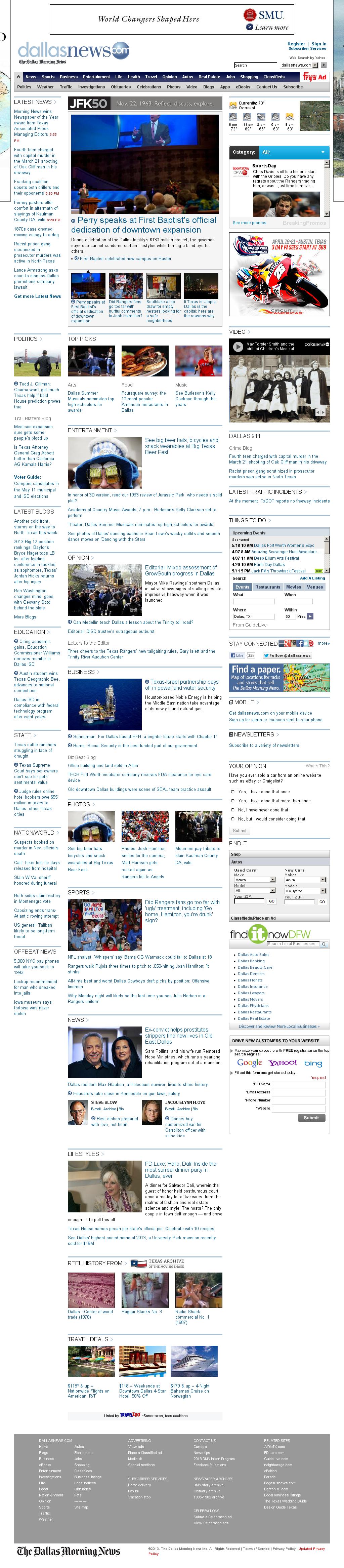 dallasnews.com at Monday April 8, 2013, 12:05 a.m. UTC