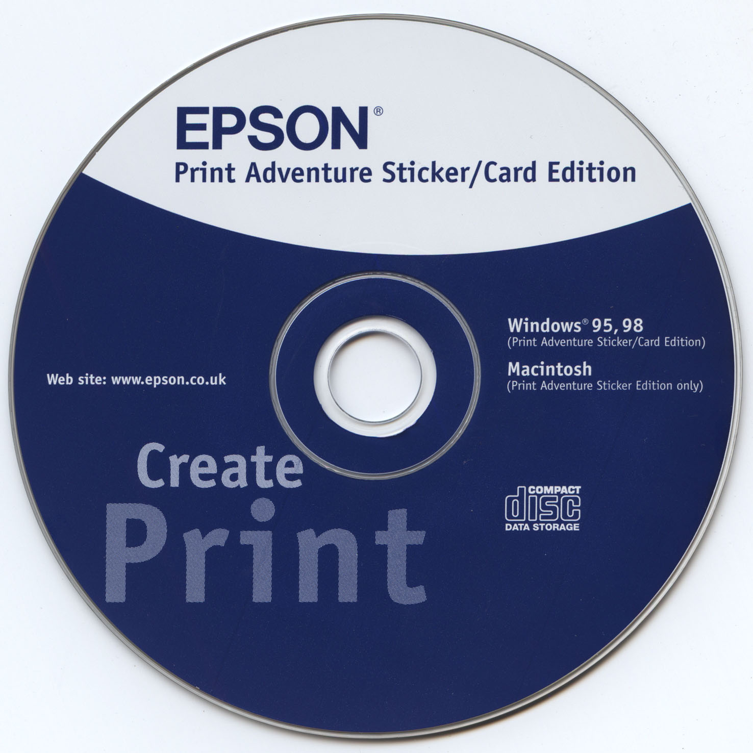 Epson Print Adventure Sticker/Card Edition (Windows/Macintosh)