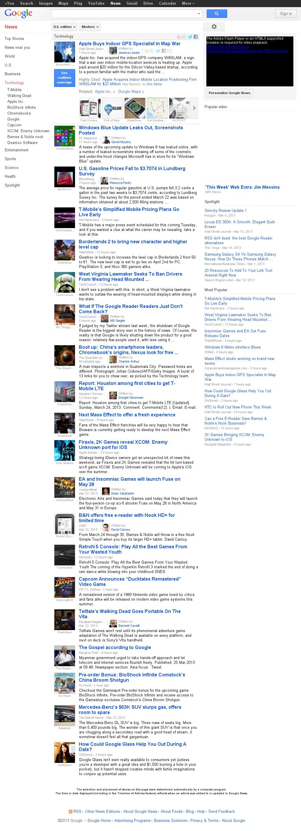 Google News: Technology at Monday March 25, 2013, 7:15 a.m. UTC