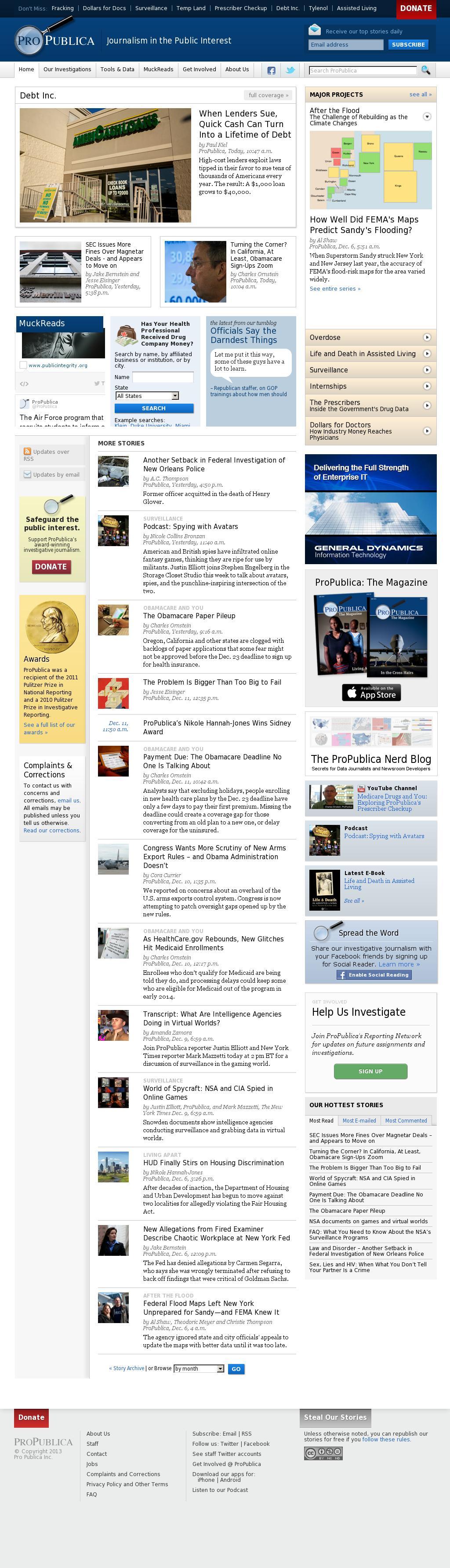 ProPublica at Friday Dec. 13, 2013, 9:12 p.m. UTC