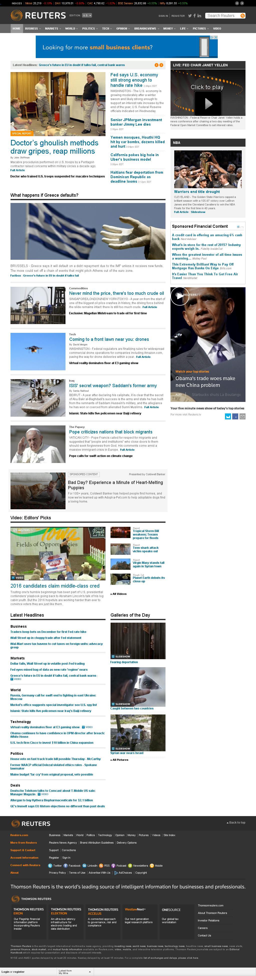 Reuters at Wednesday June 17, 2015, 7:20 p.m. UTC