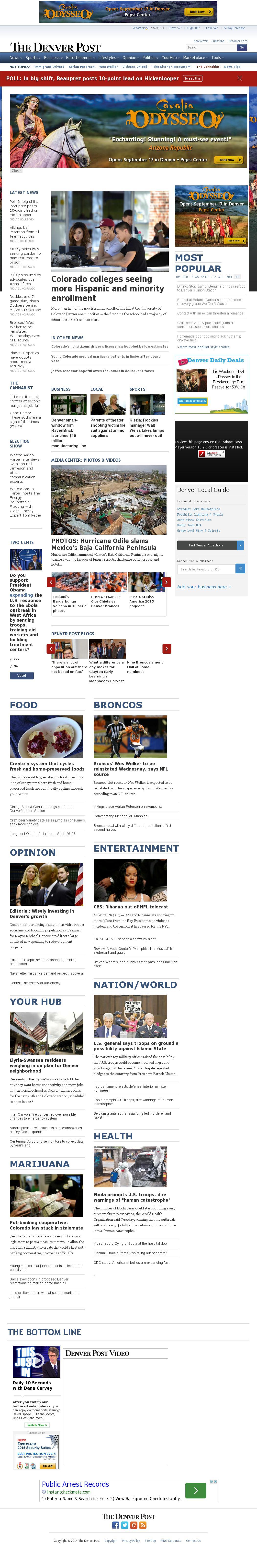 Denver Post at Wednesday Sept. 17, 2014, 1:04 p.m. UTC