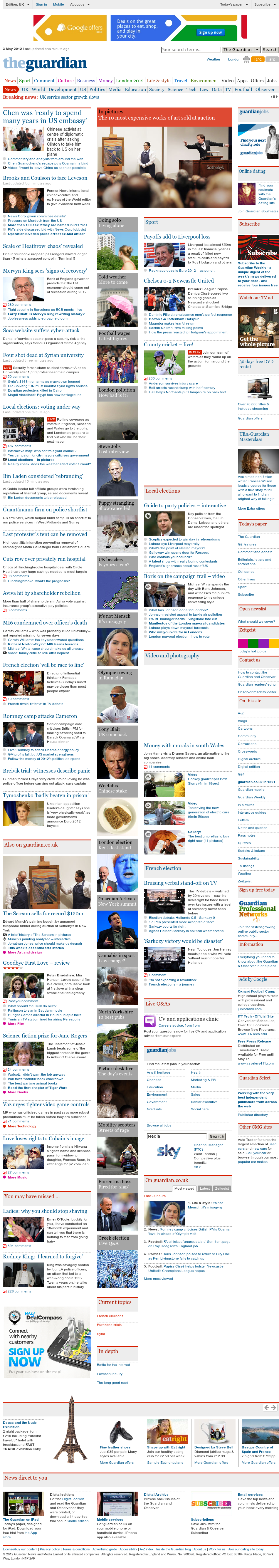 The Guardian at Thursday May 3, 2012, 3:07 p.m. UTC