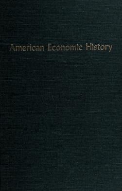 Cover of: American economic history | Donald Lorenzo Kemmerer