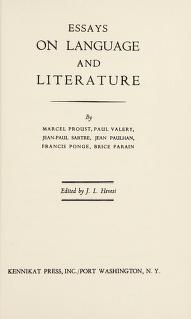 Cover of: Essays on language and literature | J. L. Hevesi