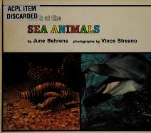 Cover of: Look at the sea animals | June Behrens